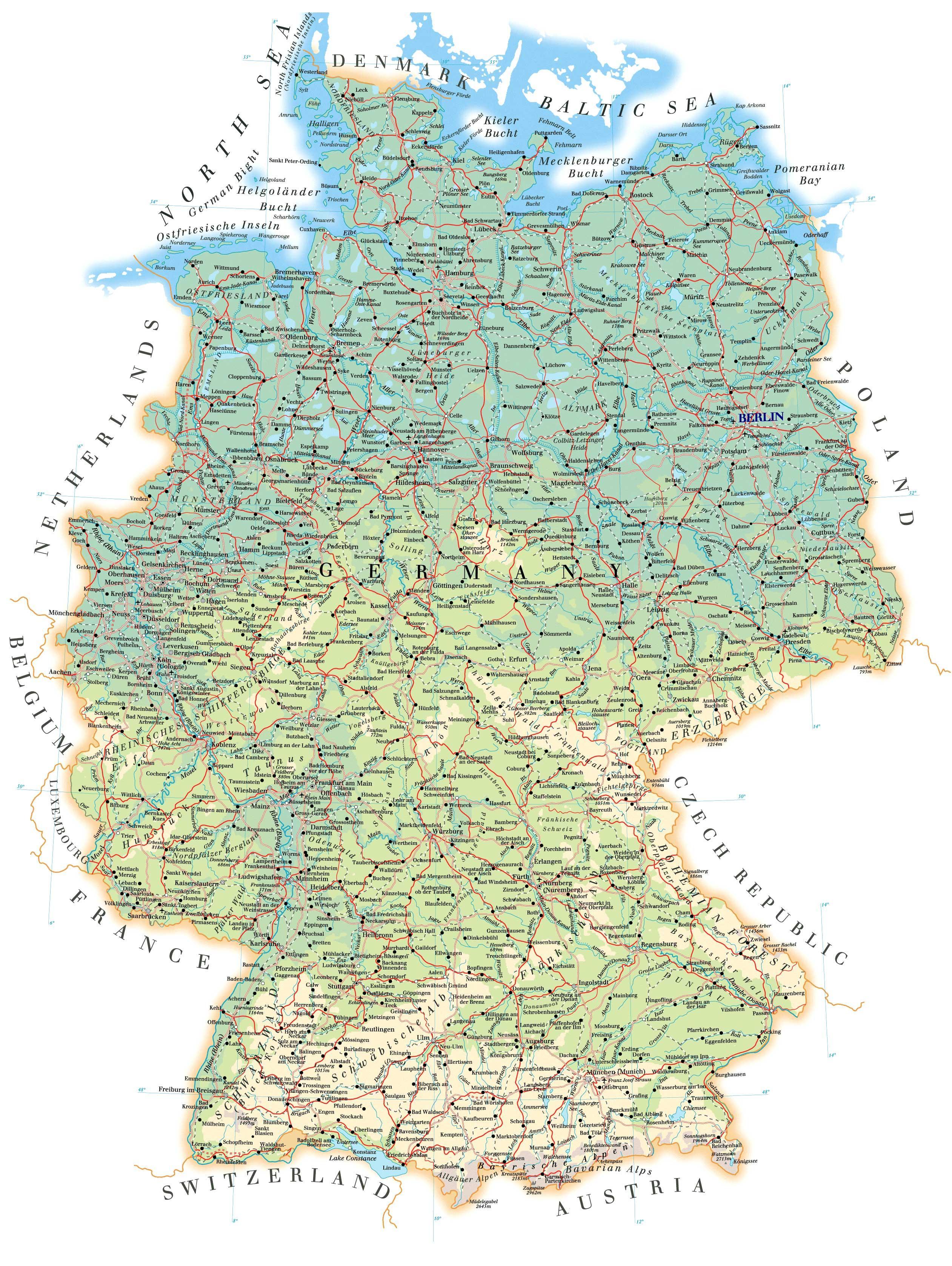 Подробная карта на русском языке